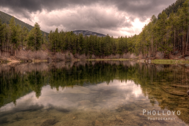 HDR of Wild Bill Lake naear Red Lodge on a Rainy Day